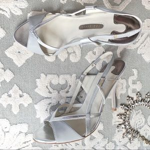 "Ted Baker Silver Grey Sandals ""Sigma"" sz 7 w/ Box"